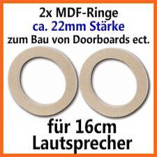 2 Stück MDF Holzringe 16cm Lautsprecherringe 22mm dick Adapterringe PAAR 160mm