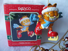 Enesco Garfield Ornament Holiday on Ice In Box