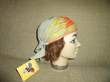 Flaming Skulls Doo Rag -One Size Fits All