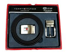NEW TOMMY HILFIGER MEN'S SET REVERSIBLE LEATHER BELT REMOVABLE BUCKLE 4182-17