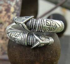 Drachenkopfring 925er Silber 52-60 Wikingerring Mittelalter Durchmesser 16-19mm