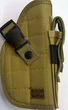 TAN NEW COLOR RIGHT HANDED BELT HAND GUN PISTOL REVOLVER HOLSTER