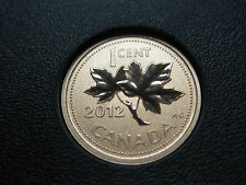 2012 UNC Magnetic Specimen Canadian Penny One Cent - 1 cent coin **Last Year**