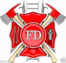 Fireman Fire fighter logo  Cornhole Board Game Decal Set Super Nice Image!!