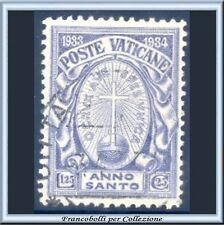 1933 Vaticano Anno Santo 1,25 + 25 cent.  n. 18 Usato Pontificato Pio XI