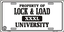 Property of Lock & Load University Gun Novelty Humor License Plate Auto Tag Sign