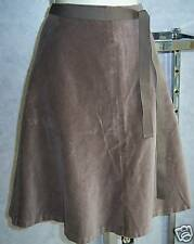 gap brown velvet velour aline cotton skirt 1