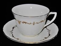 Royal Worcester GOLD CHANTILLY, Cup and Saucer Set