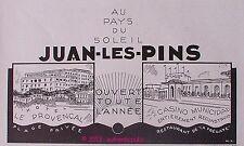 PUBLICITE JUAN LES PINS HOTEL LE PROVENCAL CASINO PLAGE FREGATE 1931 FRENCH AD