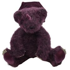 "Vermont Teddy Bear BearAnimal Dinobear Plush Stuffed Animal 10"" Purple"