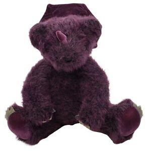 "Vermont Teddy Bear BearAnimal Dinobear Plush Stuffed Animal 10"" Purple"