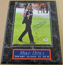 MIKE DITKA FINGER BEARS AUTOGRAPHED SIGNED FRAMED 8X10 PHOTO-12X15 PLAQ  PSA/DNA
