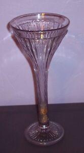 "Vintage Rare Jumbo 12"" Martini Looking Glass Heavy Older Made Vase GUC"