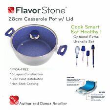 Danoz Flavorstone 28cm Casserole Pan + Warranty✓ Authentic✓ As Seen on TV✓