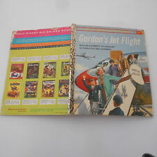GORDON'S JET FLIGHT with plane RARE LITTLE GOLDEN BOOK Activity A48 707 ASTROJET