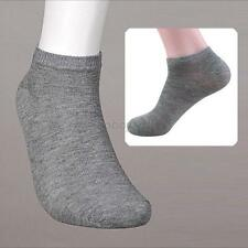 Gray Color Unisex Cotton Soft Boat Socks Low Cut Solid Comfortable Ankle Socks