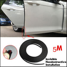 Car Door Protector Strip Sticker Rubber Strip Scratch Edge Guard 16FT/10M Black