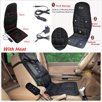 Car Vibration Massager Heat Seat /Cushion Neck Pain Lumbar Support Pad Neck Back