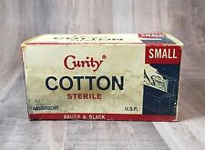 Vintage Curity Cotton Sterile Box KENDALL First Aid Grandma's Medicine Cabinet