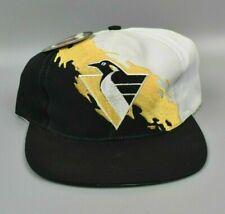 Pittsburgh Penguins NHL Vintage 90's Logo 7 Splash Twill Snapback Cap Hat - NWT