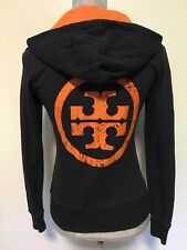 Tory Burch Navy Blue Full Zip Hoodie Sweatshirt Jacket Women's Size XS