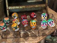 Ceramic Day Of The Dead Sugar Skull Wine LIquor Cork Bottle Stoppers