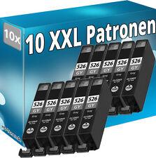 10 cartuchos tinta CLI 526 Gy gris para Canon PIXMA mg8150 mg8250 cli-526gy Grey