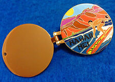HONOLULU HAWAIIAN OPENING HINGED NEI RASTA SURFER LONGBOARD Hard Rock Cafe PIN