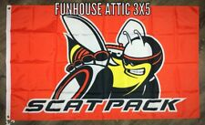DODGE Scat Pack Flag 3x5 ft Challenger Super Bee Charger Dart R/T Banner NEW