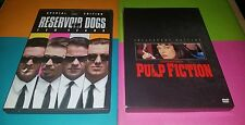 Reservoir Dogs Special Ed. & Pulp Fiction Collector's Ed. movie dvd Tarantino