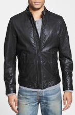 $598 DIESEL 'L-Thermal' Leather Jacket Size XXL