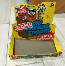 1974 Topps Gum Co Wacky Packages 6th Series Sticker Yellow Display Box  RARE