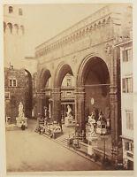 Firenze Loggia Dei Lanzi Italia Vintage Ca 1880