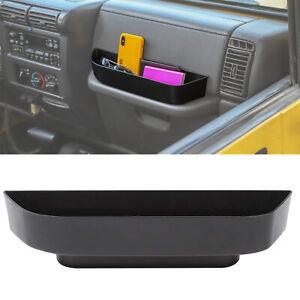 For Jeep TJ Wrangler 97-06 Grab Tray Passenger Storage Tray Organizer Box Black