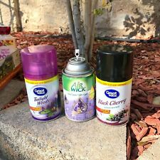 3x Lot Great Value Automatic Spray Refills Black Cherry, Twilight Woods AirWick
