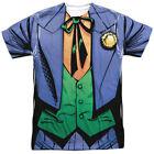 Batman DC Comics Superhero Joker Costume Adult 2-Sided Print T-Shirt Tee