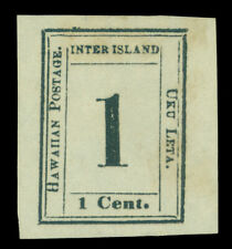 HAWAII 1864  Numerals  1c black   Scott # 19  6-A  Type II  pos.2   mint MH  XF