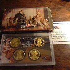 2008s US Presidential Dollar Mint Proof Set w/sleeve &coa