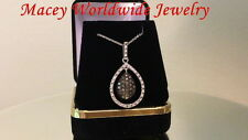 Brandy Diamond® Chocolate Brown Floating Teardrop Pretty Pendant Necklace