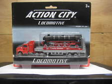 REALTOY ACTION CITY SEMI TRUCK & TRAILER WITH LOCOMOTIVE #18290B
