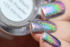 Holographic Unicorn Chrome Rainbow Glitter Powder Pigments For Nail Art 2g/Pot