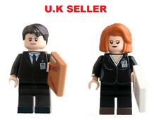 Mulder & Scully Minifigure Fit Lego Fox Mulder Scully The X-Files Mini Figure