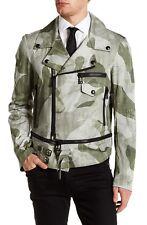 $1295 NWT Belstaff Worthing Blouson Jacket Cotton Faded Olive Italy EU 54 US 44