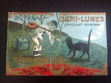 Image découpe publicitaire Chat Demi Lunes Chocolat Pierrot