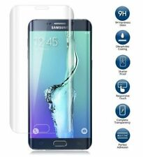 REAL CURVED & FULL CLEAR TEMPERED GLASS SCREEN FOR SAMSUNG GALAXY S6 EDGE CLEAR