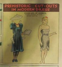 Alley Oop Sunday by VT Hamlin from 8/29/1937 Tabloid Size Page Rare! Paper Doll