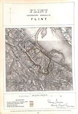 Flint.Wales.1868.Boundary Commissioners report.Map.Antique.Plan