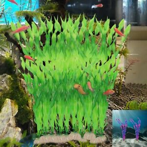 10 x Artificial Plastic Grass for Aquarium Sea Weed Plant Fish Tank Decor