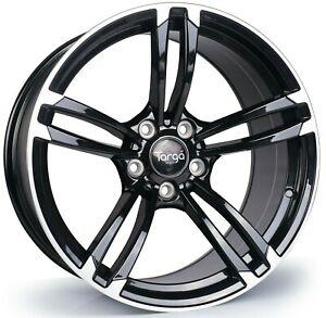"""18"""" Targa TG1 Alloy Wheels Black Machined 5x120 fits BMW 1 Series 2 Series"""