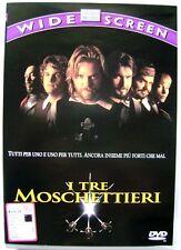 Dvd I Tre Moschettieri - ed. Widescreen Siae rosa 1993 Usato raro fuori cat.